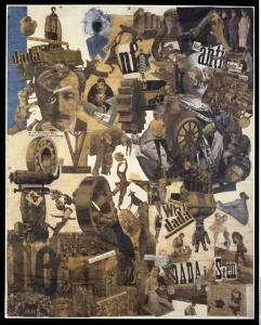 """""""Cut with the Dada Kitchen Knife through the Last Weimar Beer-Belly Cultural Epoch in Germany"""" by Hannah Höch (1919), kolaż"""