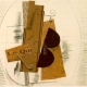 Violin and Pipe, 'Le Quotidien' Georges Braque, 1913, kolaż